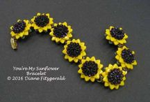 Beading - sunflowers