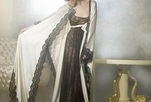Lina Liri's Unique Silk Creation Robe With Applique Italian Lace.For Many Combinations .