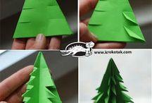 stromeček z papíru