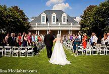 Ceremonies at The Landmark / We offer outdoor garden or indoor ballroom reception areas!