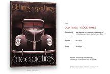 www.vintage-classic-house.de / Collagen auf Canvas - Drucke - themenbezogene Fotografie  individuelle Fotos - Lederjacken - Lederwesten - Shirts Accessoires und andere schöne Dinge