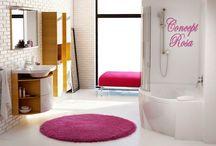 Concept Rosa / Rosa est une collection avec une particularité que les autres n'ont pas : elle regroupe évidement lavabo et meubles de salles-de-bains, mais aussi 3 modèles de baignoires.  Rosa 1, Rosa 2, et Rosa 95.