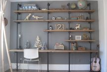 Pipes ideas / Pipes furniture, shelves, tables, racks, lights and holders