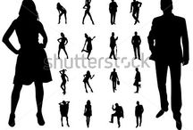 work silhouettes