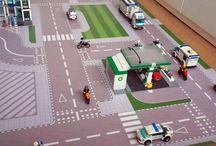Speelmat / speelkleed voor LEGO City / LEGO City Speelmat / speelkleed 153cm x 153cm