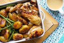 Easy Sunday roast ideas / Sunday roasts needn't mean meat and 3 veg with gravy; here are some alternative roast ideas, all easy.