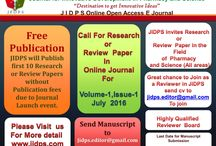 JIDPS Invites Research paper / Journal for Innovative development in Pharmacy and Science (JIDPS) is the open access online peer review journal. JIDPS includes all the Subjects like related Pharmaceutical and Science Field.