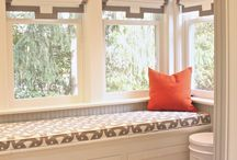 Upholstery and drapes and windows