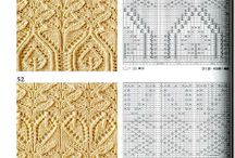 Knitting patterns - Lace and Cables / Different knitting patterns with lace and cables, no jacquard