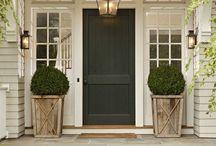 Exterior: Front Doors / Front door dreaming - painted doors - wood doors - old doors - new doors, all of them can be inspirational!