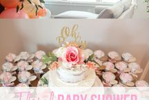 Floral Baby Shower / Inspiration for floral / garden themed baby shower for a baby girl.