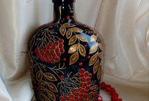 Бутылки Декупаж