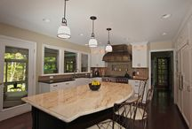 Grand Haven Home Renovation / A home renovation by Pushaw Builders in Grand Haven, Michigan. This home features an updated kitchen with a wine bar as well as many interesting details.