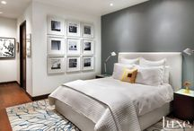 Master bedroom in gray