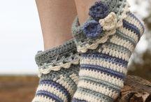 Н / Вязаные тапочки и носки