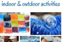 Winter outdoor activities / Activity ideas to do outdoors in winter