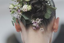 Flowers in her hair / Gorgeous hairstyles with gentle flowers. Lady Spring!