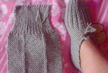 knitted. slipper