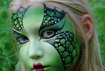 Green witch halloween facepaint