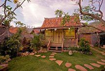 Balinese villas and garden