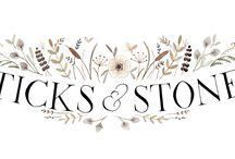 Watercolor illustrations - logo, branding