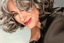 hairstyles grey hair