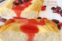 pastel de queso y yogur