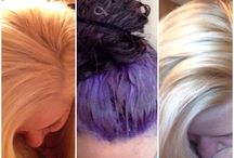 blonde hair with purple toner