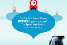 12 Days of Messes / BISSELL celebrates the season with our #12Days of Messes holiday #giveaway on www.Facebook.com/BISSELL Visit daily 12/9/2013 to 12/20/2013 for chances to #win great BISSELL prizes! / by BISSELL