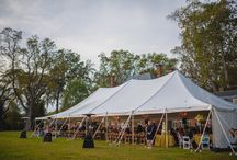 Pole Tents / High peak pole tents are traditionally your most economical tenting option when compared against frame and sailcloth tents. They offer a beautiful sloping canopy and set a perfect romantic mood for any wedding or event.