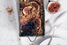 Fig pear crumble / Desert