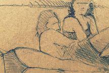 my work Sunbathing on the banks of the #dordogne #drawing #france #sketch #pencil #pencildrawing #sketchbook