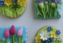 flowers cookies, cakes and cupcakes