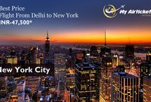 Flights from India to New York / Flight From India to New york to Travel.. #travel #flights #airfare #airline #Dallas #India #airtickets #Newyork#international #myairticket #Cheapest  http://www.myairticket.com/myairticket/india.php