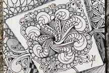 ART...Zentangle by Maria and Rick / Tiles, Mandalas, ATC...plus their ZIA