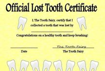 Dental Certificates / Tooth Fairy, Good Check-Up's ect