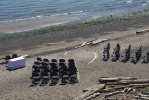 Ceremony / Between the breathtaking beach, wide open grass or rustic inside decor The Beachhouse always has an option for your ceremony