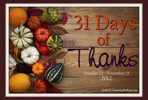 31 Days of Thanks / by Jennifer A. Janes