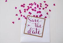 Save the Date / Die Vorfreude auf den Tag der Tage beginnt auch bei Euren Gästen mit der Save the Date Karte.