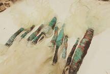 Copper textile woven art