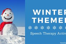 Speech Therapy Christmas / Activities related to snow, hot chocolate, and getting your tongue stuck on the flagpole.