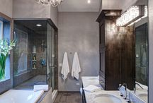 Bathrooms with high ceilings
