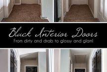 Black Interior Door