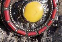Silver rings from Nepal with gemstones / Silver rings from Nepal with gemstones