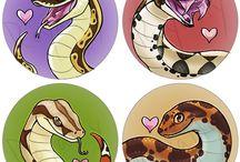 Snakes-drawings