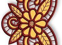 embroidery, crewel, bordados en general