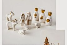 White nativity set