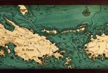 International / Wooden maps and nautical decor from around the world.