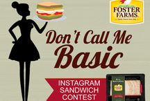 Don't Call Me Basic - Turkey Sandwich Contest / Instagram contest August 1-31, 2015 // Post a photo of your sandwich to Instagram, along with the recipe and tag @FosterFarms and #DontCallMeBasic. Make sure your profile is public! // www.fosterfarms.com/dontcallmebasic.pdf