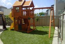 Residential Play Structures / A collection of residential play set assemblies